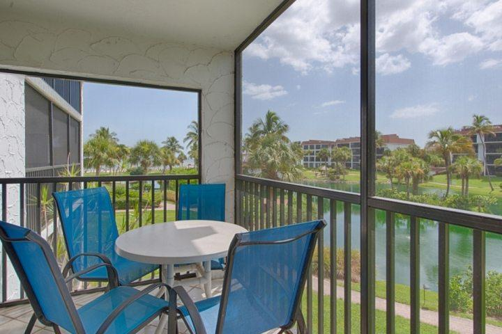 Screened Lanai with Ocean and Lagoon View - Fabulous!! Gulf Front Complex - Pointe Santo de Sanibel - Ideal Location!! - Sanibel Island - rentals