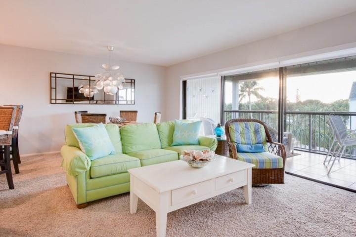 Lovely Living Room - Find your FOUNTAIN OF YOUTH!! Mariner's Pointe - Beautiful 2 Bedroom Condo - Sanibel Island - Sanibel Island - rentals