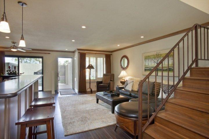 Ground Floor Living Area - STAGECOACH PROMO 20% OFF! Steps from El Paseo -- Location! Style! Amenities - Palm Desert - rentals