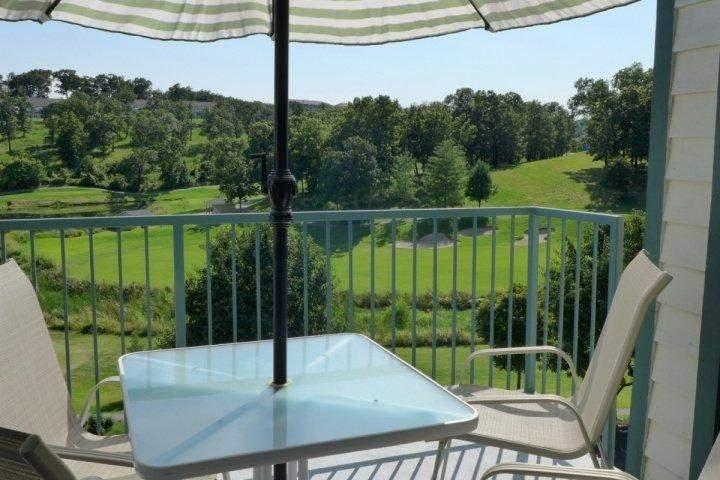 View of your Private Covered Deck, Overlooking the 1000's Hill's Golf Course. - Golf View 2bedroom Condo (6-5) - Branson - rentals