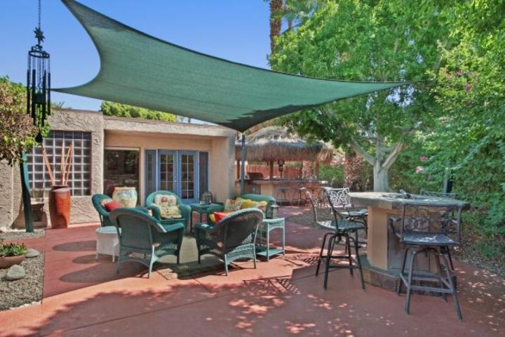 Outdoor Living Area complete with everything.you would want for entertaining!! Fire Pit; Outdoor Kitchen: Seating area!!!  Dining! - ENTERTAINER'S DREAM! Outdoor Kitchen/ Firepit /Tennis Cts. - Rancho Mirage - Rancho Mirage - rentals