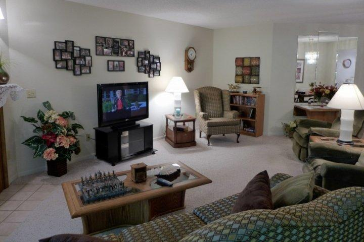 Living Room area with Sofa/Bed - Pointe Royale Luxury Ground-Floor 2BDR Condo (61-2) - Branson - rentals