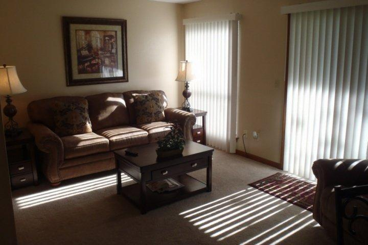 Living Room area with Sofa/Bed - Point Royale Golf View 1 BDR Condo (3-1) - Branson - rentals