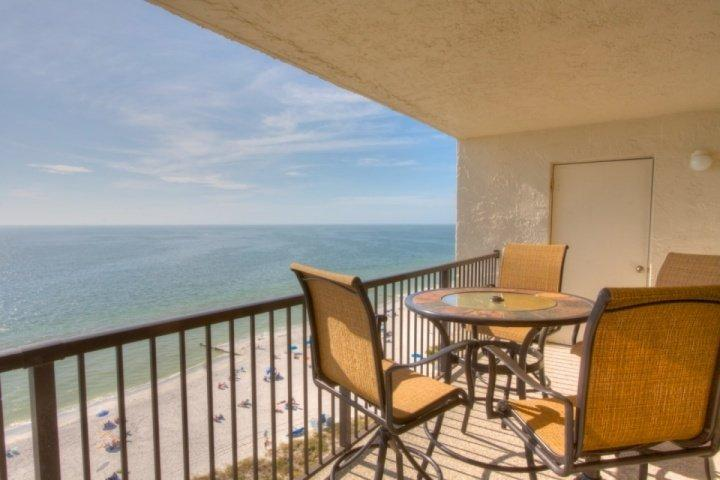Grand View From the 12th Floor Balcony Overlooking the Gulf and Beach - 2-1207 - Ocean Sands - Madeira Beach - rentals