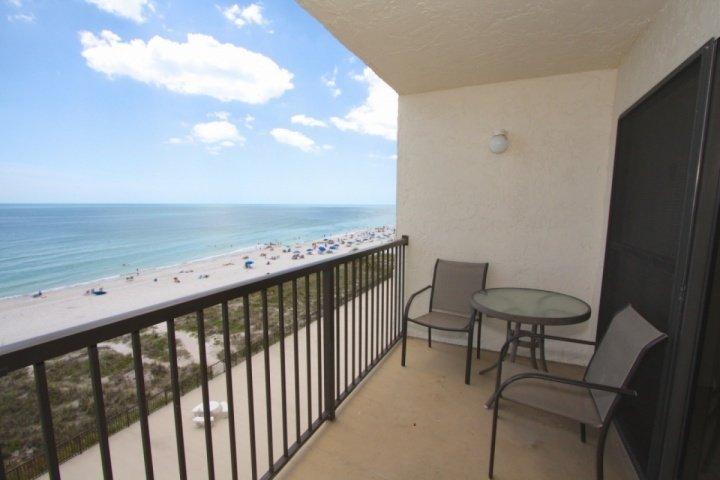 Private Beachfront Balcony of the 6th Floor - 2-602 - Ocean Sands - Madeira Beach - rentals