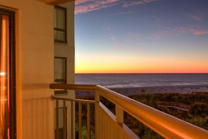 View of the Beach and Gulf of Mexico from your balcony.  Cabanas to rent on the beach. - 505 - Gulf Strand - Saint Pete Beach - rentals