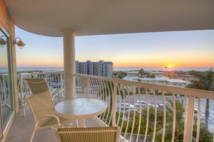 Private Balcony Sunset View Over the Gulf - 506 - Crystal Palms - Treasure Island - rentals
