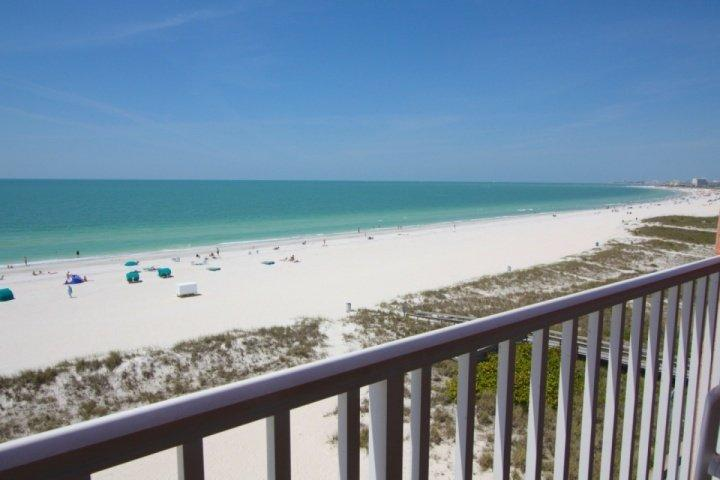 Private Beachfront Balcony Overlooking Treasure Island & Gulf of Mexico - 607 - Island Inn - Treasure Island - rentals