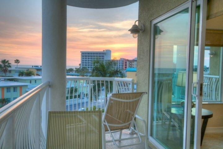 Beach View from Private Balcony - 403 - Crystal Palms - Treasure Island - rentals