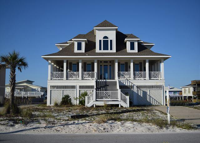 Beautiful gulf view home has great front and back porches and spacious interior. - Ariola 1307 - Pensacola Beach - rentals