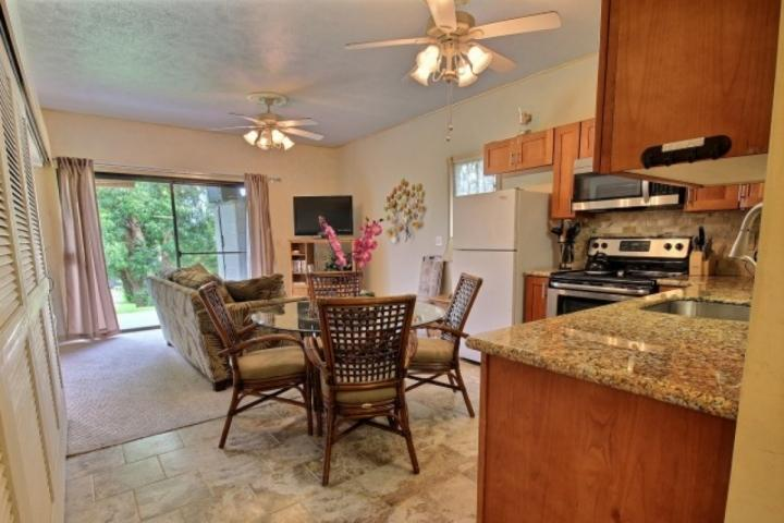 Spacious living area and remodeled kitchen with granite counter tops - Pohailani 2 bedroom / 1 bath - Unit 148 - Kahana - rentals