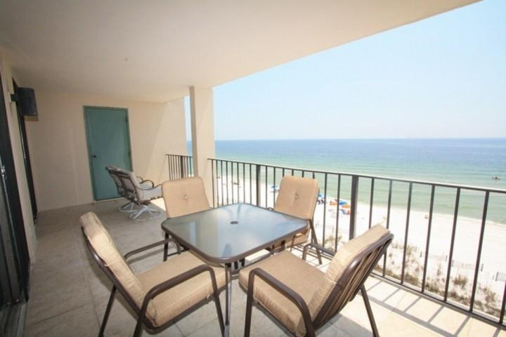 Gulf-front balcony - Wind Drift 502 - Orange Beach - rentals