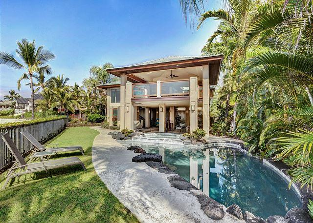 Private Pool with Ocean Just Steps Away - Ocean Front 3 bedroom, 2.5 bath Home in Kona Bay Estates, Vista Oceania-PHKBEOce - Kailua-Kona - rentals
