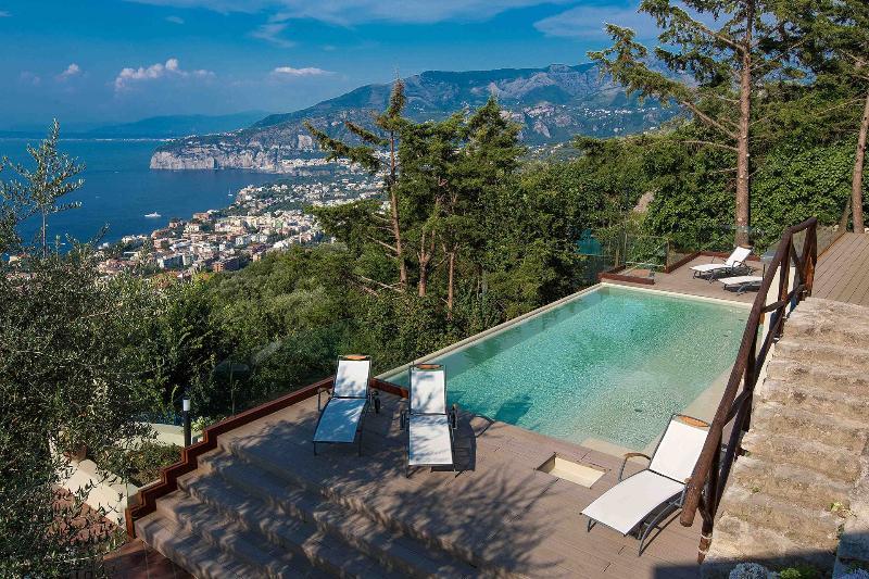 Villa Davide, infinity pool, seaview, jacuzzi, terrace - Image 1 - Sorrento - rentals