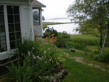 Peak of the Salt Marsh entering the Atlantic Ocean - Newagen Cove Cottage Southport - Boothbay - rentals