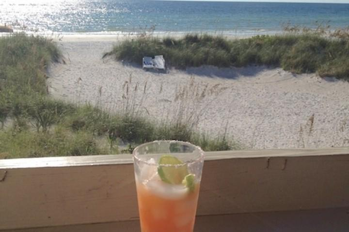 Enjoy a Refreshing Beverage out on the Private Patio that overlooks the Breathtaking Crystal Blue Waters of Indian Shores, FL - 2 Pipers Nest - Indian Shores - rentals