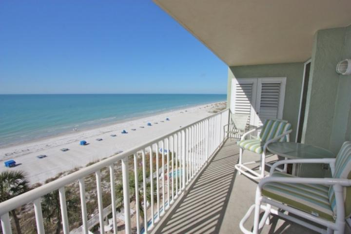 Private Patio with Seating for 4 Overlooking The Gorgeous Gulf of Mexico in Indian Shores, FL - 707 Sandcastle One - Indian Shores - rentals