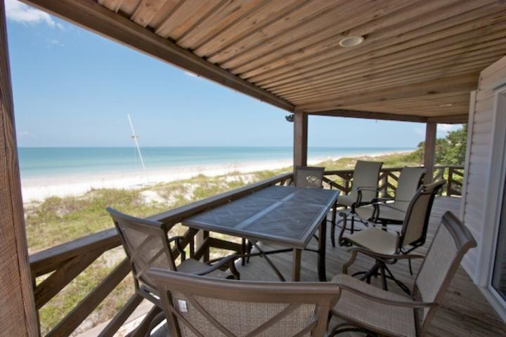 Large Patio with Seating for 6-8 Overlooking The Gorgeous Gulf of Mexico in Indian Rocks Beach - Cypress-n-Sun   B-1 - Indian Rocks Beach - rentals