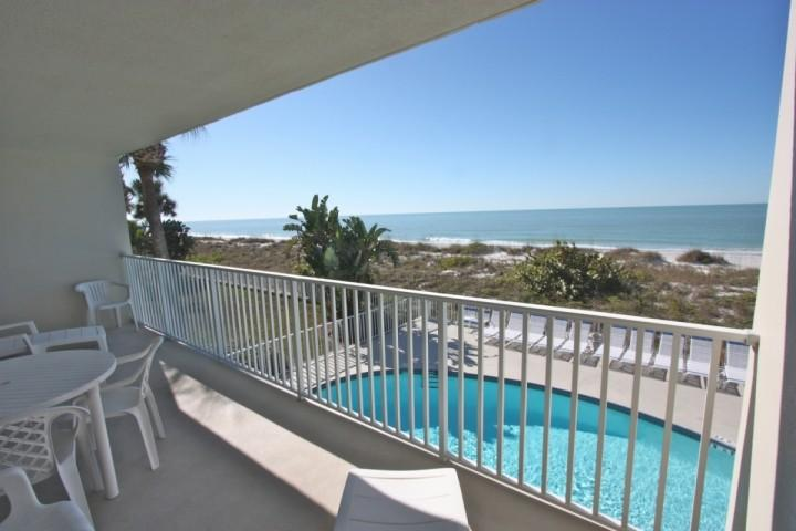 Private Balcony with Seating for 4-6 overlooking the Amazing Gulf! - 104 Hamilton House - Indian Rocks Beach - rentals