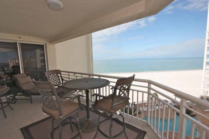 Gorgeous Private Patio with Seating for 4-6 Overlooking The Amazing White Sandy Beaches of Clearwater - 904 Papaya,   Mandalay Beach Club - Clearwater Beach - rentals
