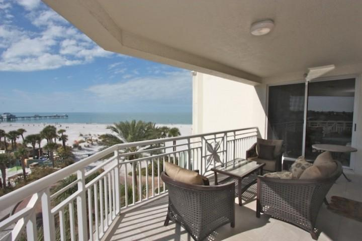 Private Patio with Seating for 4-6 Overlooking the Amazing Clearwater Beach - 403 Papaya,   Mandalay Beach Club - Clearwater Beach - rentals