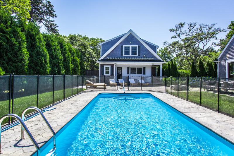 Pool, Carriage  House with Apartment 2nd Level, Lower Level Half Bath and Wet Bar - CANNM - Gorgeous Katama Family Compound with Pool, Ferry Tickets,  Separate Carriage House Apartment - Edgartown - rentals