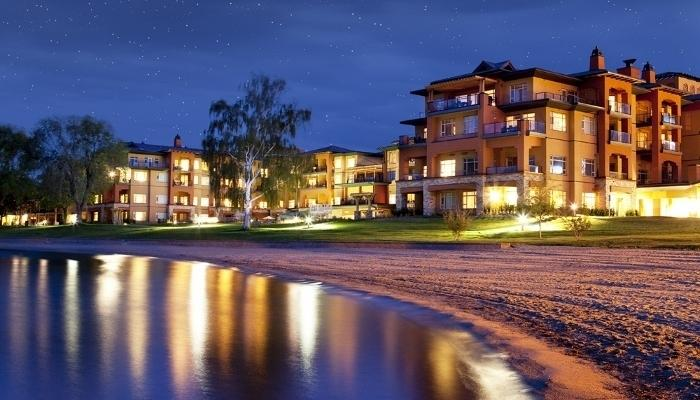 Relax on the sandy beach and swim in the warm lake - 2 Bedroom Condo: Lake View - Osoyoos - rentals