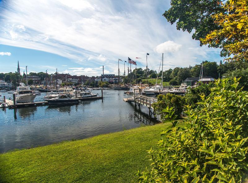Camden Harbor from lawn below deck - Bellore, Located on Camden's Inner Harbor - Camden - rentals
