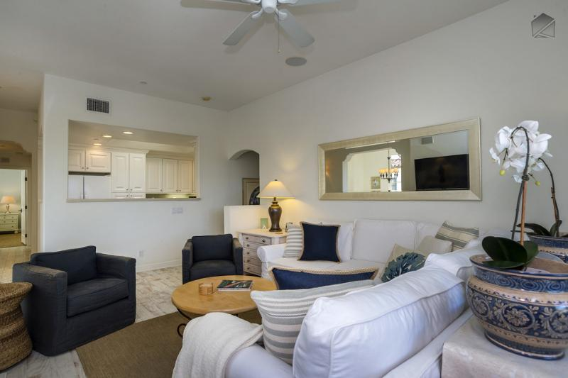 The living room is very spacious. - Elegant condo is perfect for Urban Wine Tour and just blocks from the beach - 30 Night Minimum - Bella Mar - Santa Barbara - rentals
