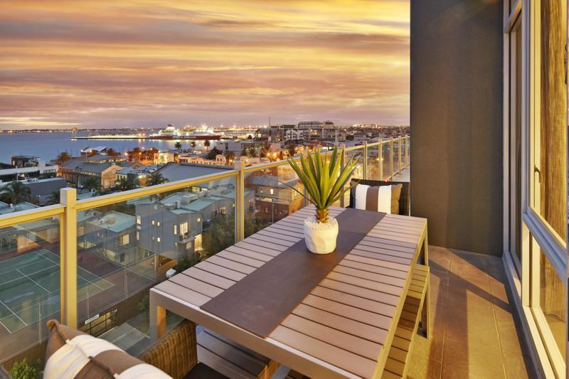 View to the south west, from part of the balcony of this spacious, two bedroom bayside apartment - StayCentral NewApartment- Port Melbourne Panorama - Melbourne - rentals