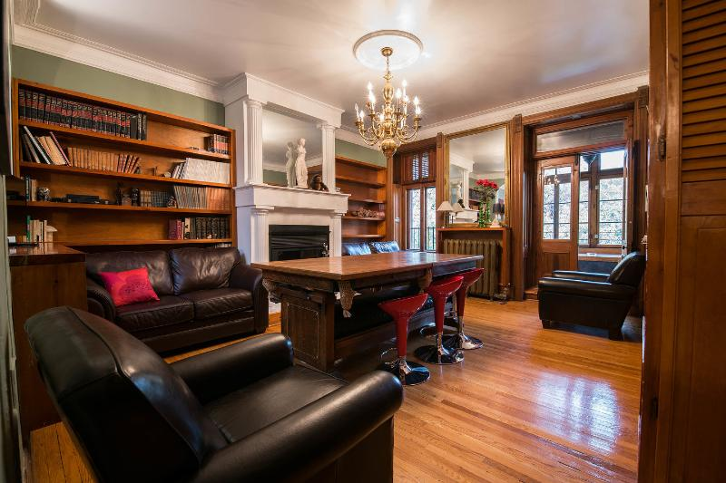 Living Room: Billiard Table (Doubles as dining) - Plateau Heritage House - Montreal - rentals