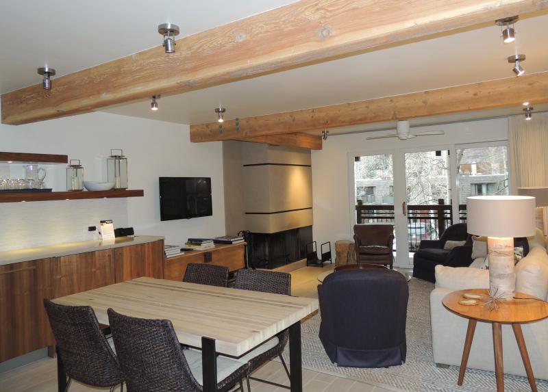 Living room - Beautiful 2 Bedroom, 2 Bathroom Condo in Aspen (Lift One - 203 - 2B/2B) - Aspen - rentals