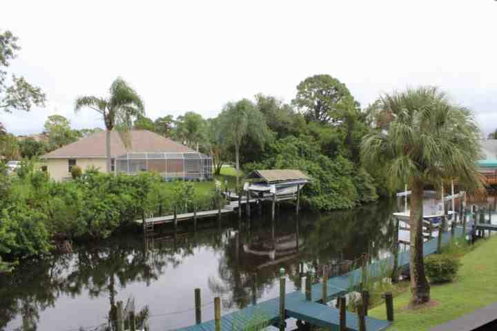 Looking out at the canal - Riverbend River and Golf Club Condo - North Fort Myers - rentals