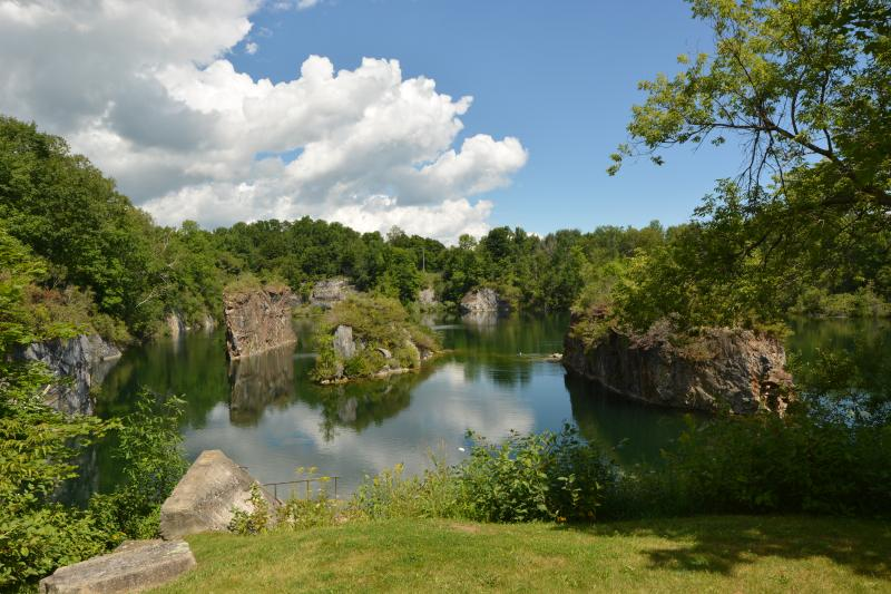 Quarry view from patio - Tenneyson on the Quarry - Rockland - rentals