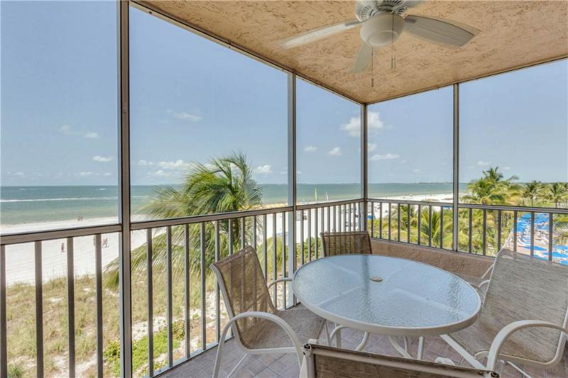 Estero Island Beach Villas 304,  2 Bedrooms, Gulf Front, Heated Pool - Image 1 - Fort Myers Beach - rentals