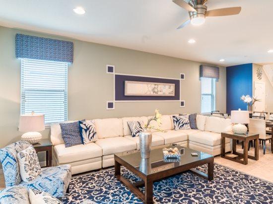 Sparkling 7 Bedroom 5.5 Bathroom Pool Home in New Kissimmee Resort. 2109MW. - Image 1 - Orlando - rentals