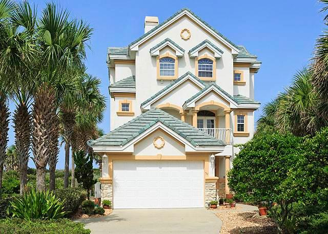 Beach Belle, 4 Bedrooms, Ocean Front, Elevator, Private Pool, Sleeps 10 - Image 1 - Palm Coast - rentals