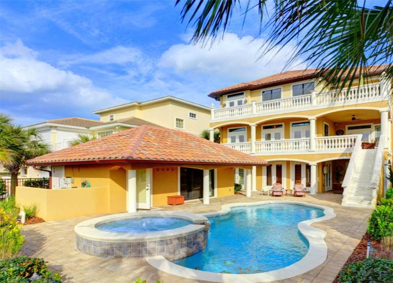 Tuscany By the Sea, Luxury 5 bedrooms, Pool, heated Spa, Cabana, 8 HDTV's - Image 1 - Palm Coast - rentals