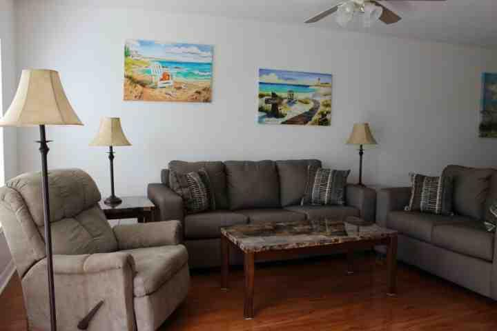 Cozy Living Room with Recliner - Bayshore Commons Condo - North Fort Myers - rentals