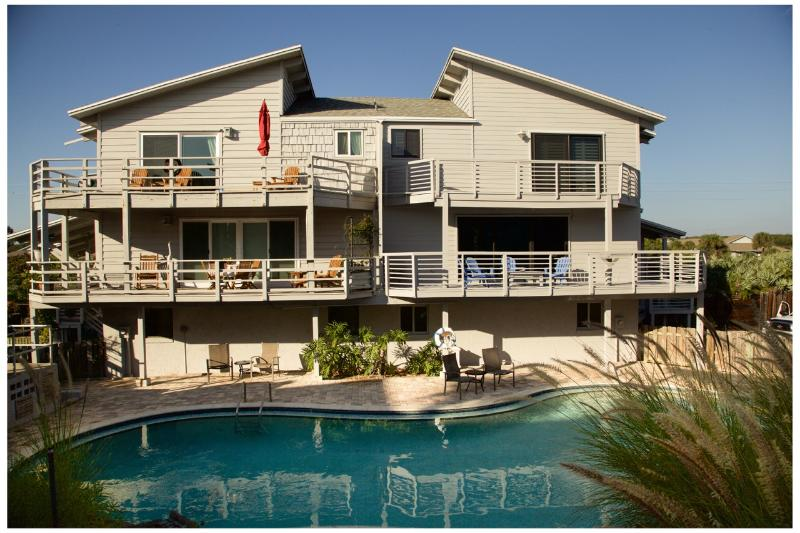View from the beach Virtual Tour Available - Sandcastle Paradise: Beautiful BeachTownhome - New Smyrna Beach - rentals