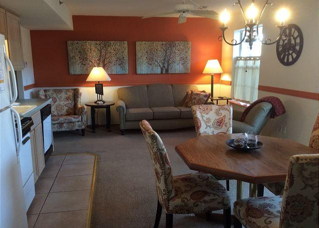 Living Room - Fisherman Falls- Walk-In Level, 2 Bedroom, 2 Bath Condo located at Fall Creek - Branson - rentals