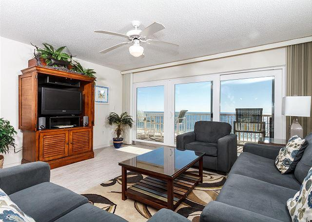 Kick back and relax...Would you just look at that view!! - Condo#5001:Colorful gulf front condo-WiFi,FREE BEACH SERVICE + GOLF included - Fort Walton Beach - rentals