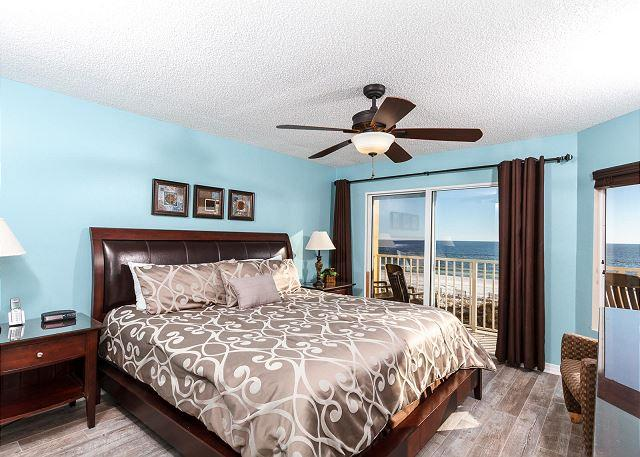 Gorgeous views from the master bedroom and an entry to the priva - GD 310:NEWLY RENOVATED corner unit w/ WIFI, BBQ, tennis, pool, FREE BCH SVC - Fort Walton Beach - rentals