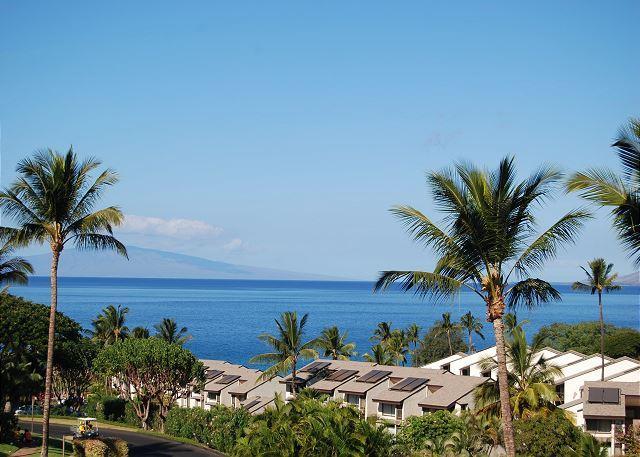 Ocean view from unit #J-217 - Ocean Views, Peaceful Lanai 2 Bd 2 Ba Maui Kamaole #J-217  Great Rates!! - Kihei - rentals