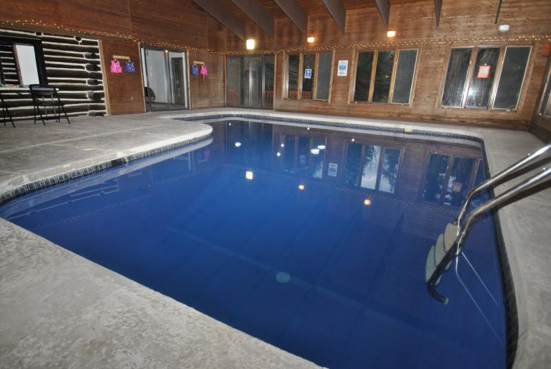Yep, that's an enormous indoor pool. - Riverfront Lodge w/ Indoor Pool and Hot Tub - East Stroudsburg - rentals