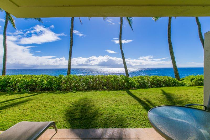 Poipu Shores 102A, Awesome ocean front condo with stunning ocean views. Ground floor. Heated pool. Free car* with stays of 7 nights or more. - Image 1 - Koloa - rentals