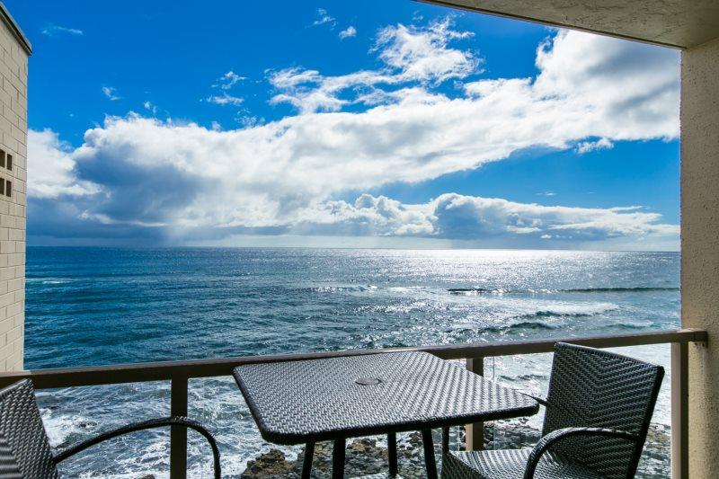 Kuhio Shores 416-4th floor condo, ocean and sunset views. Watch the surfers from this ocean front 1 bd. Free car with stays 7 nts or more* - Image 1 - Poipu - rentals