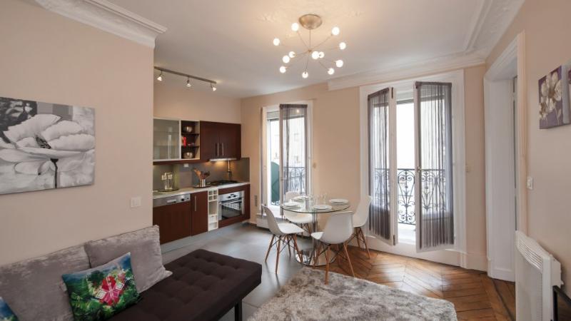Living room - One bedroom Balcony  Paris Latin quarter district (291) - Paris - rentals