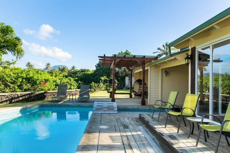 Pool Area - Lei Ohana Estate-Beautiful house and guest house in Poipu with private pool, sleeps 10 - Poipu - rentals