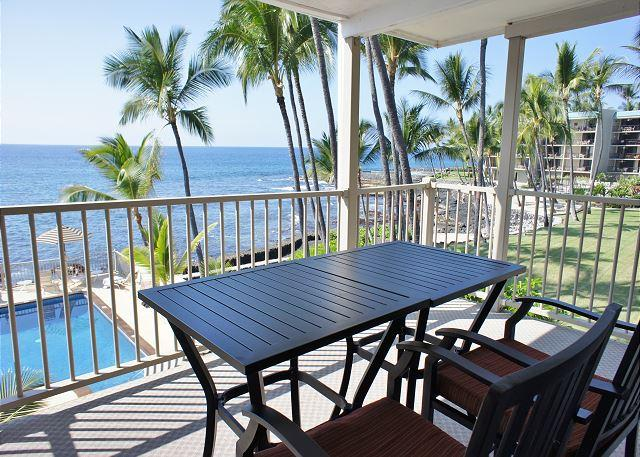 Lanai - Fantastic Ocean View - One Bedroom Condo at Kona Riviera Villas 203-KRV203 - Kailua-Kona - rentals